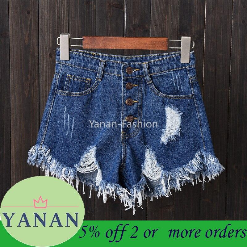 Yanan calças de brim sexy shorts femininos verão booty shorts mini denim curto feminino casual jean preto shorts vintage plus size S-6XL