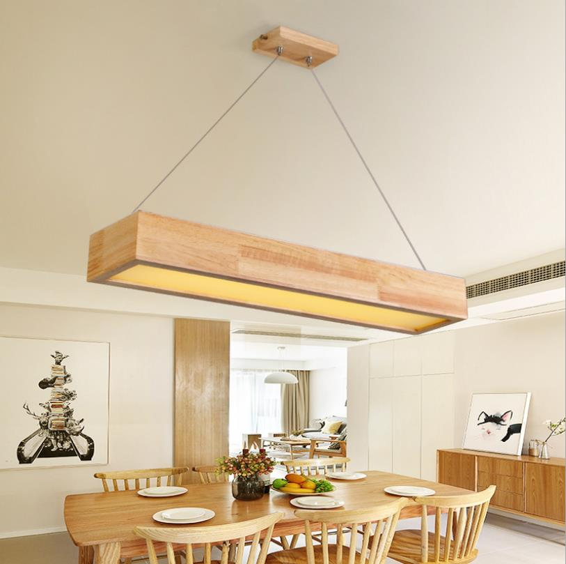 15W/25W/30W LED Wooden Pendant Light With Arcrylic Shade,Japanese Style Pendant Lamp For Living Room Sitting Room Bedroom
