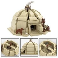 star movie city scene tuskened hut architecture building blocks trouble fighter tatooine diy tent bricks toys decor collect gift