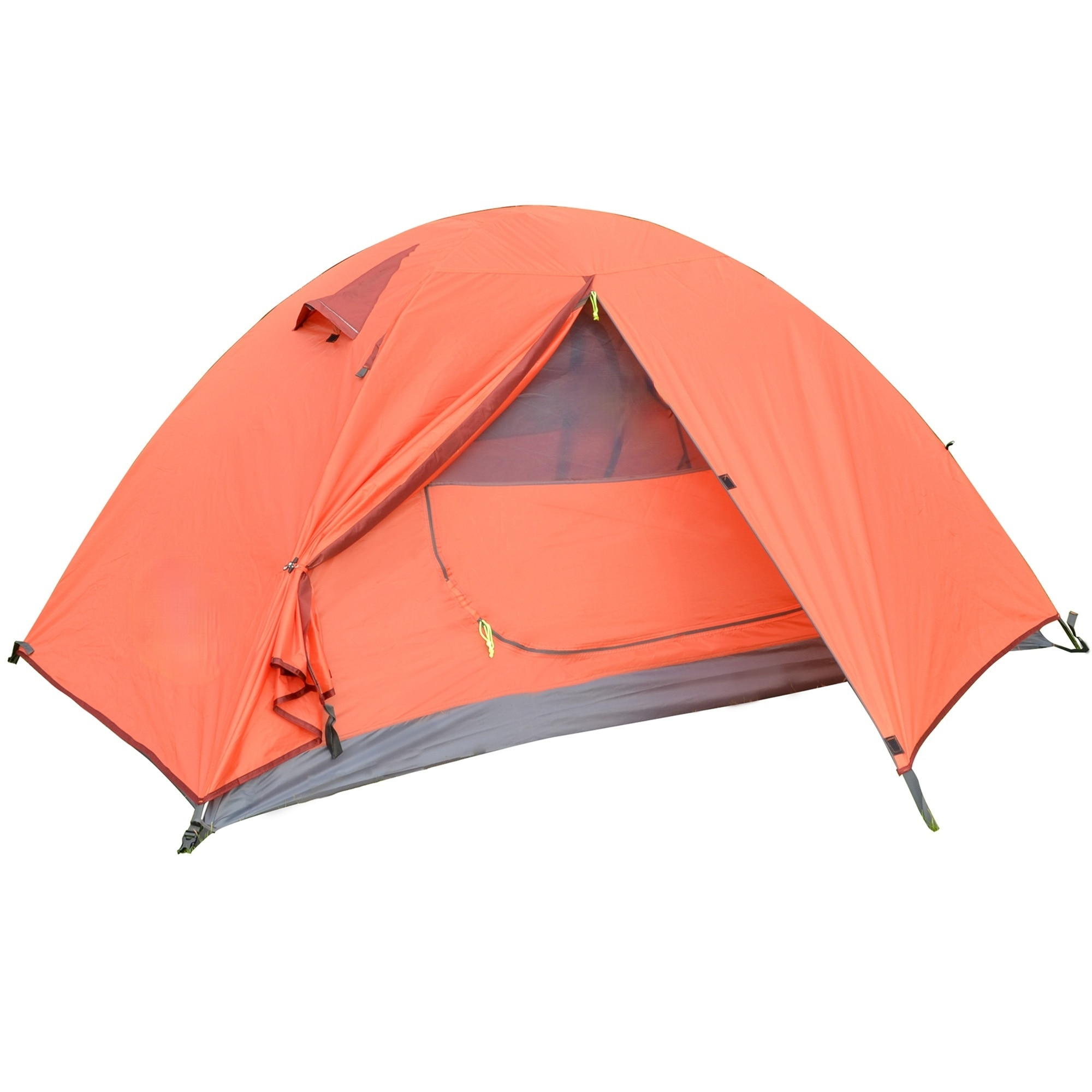 Backpack Camping Tent Lightweight 1-3 Person Tent Double Waterproof Portable Aluminum Pole Travel Tent