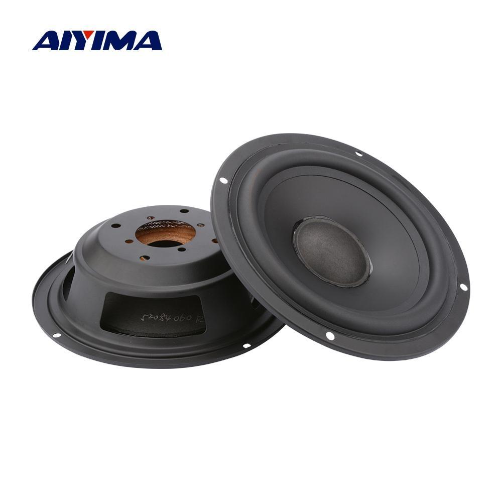 AIYIMA 2 uds altavoz de graves radiador pasivo 3 4 6,5 8 pulgadas Woofer diafragma radiador Membrana de vibración altavoz pieza de reparación
