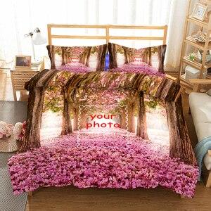 Lovers DIY Souvenir  Romantic Duvet Cover Set King Queen Double Full Twin Single Size Duvet Cover Pillow Case Bed Linen Set