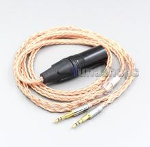 XLR 3 4 pôles 6.5mm 16 Core 7N OCC câble casque pour Hifiman HE560 HE-350 HE1000 V2 casque 2.5mm broche LN006852