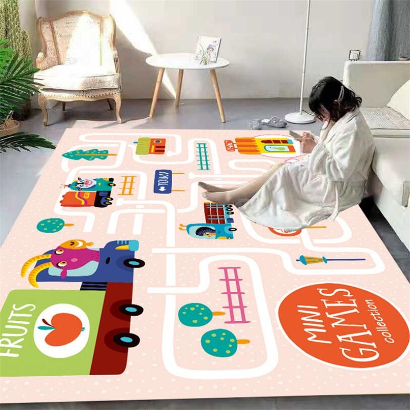 christmas baubles printed skid resistant rug City Streets Carpet 3D Printed Carpet Square Anti-Skid Area Floor Mat Rug Non-slip Mat Dining Room Living Soft Carpet 03