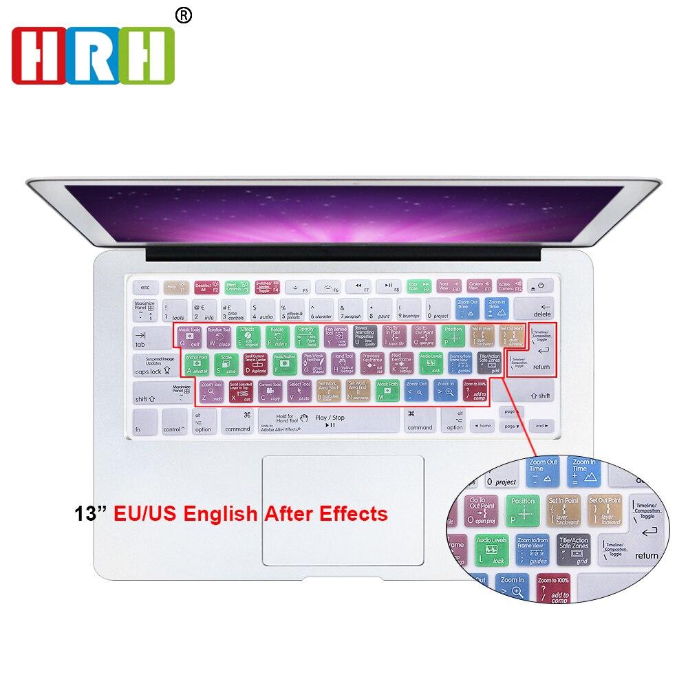 Многофункциональные ярлыки HRH после эффектов, силиконовый чехол для клавиатуры, Защитная пленка для Mac Air Pro 13