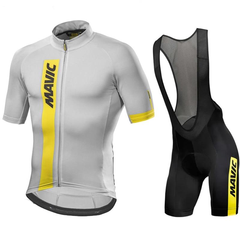 MAVIC-Maillot de manga corta para Ciclismo, conjunto de Ropa de Ciclismo de...