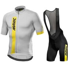 2020 sommer MAVIC Radfahren Jersey Kurzarm Set Maillot Ropa Ciclismo Uniformes Quick-dry Bike Kleidung MTB Zyklus Kleidung