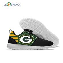 Personnaliser les Images conception unisexe bas bretelles croisées maille baskets vert baie Football Fans mode classique Zapatillas