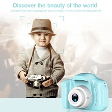 Mini Digital Camera Toys for Kids 2 Inch HD 1080P Screen Chargable Photography Props Cute Baby Child