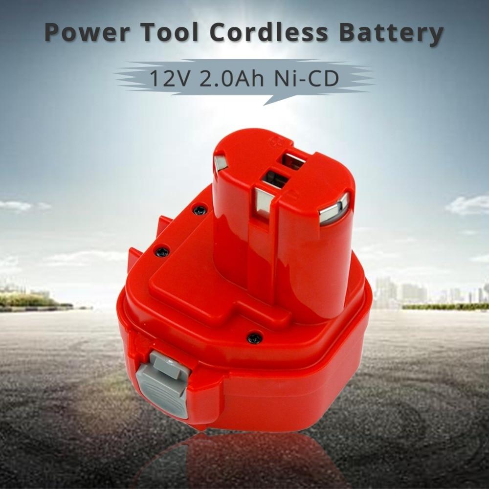 12V NI-CD 2000MAH 2.0A החלפת Bateria עבור מקיטה כלי חשמל אלחוטי סוללה PA12 1220 1222 1235 1233S 1233SB 1235A 6271D