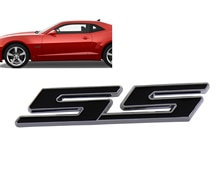Chrome Black Ss Camaro Impala Kobalt Spatbord Kofferdeksel Emblem Decal Badge Sticker