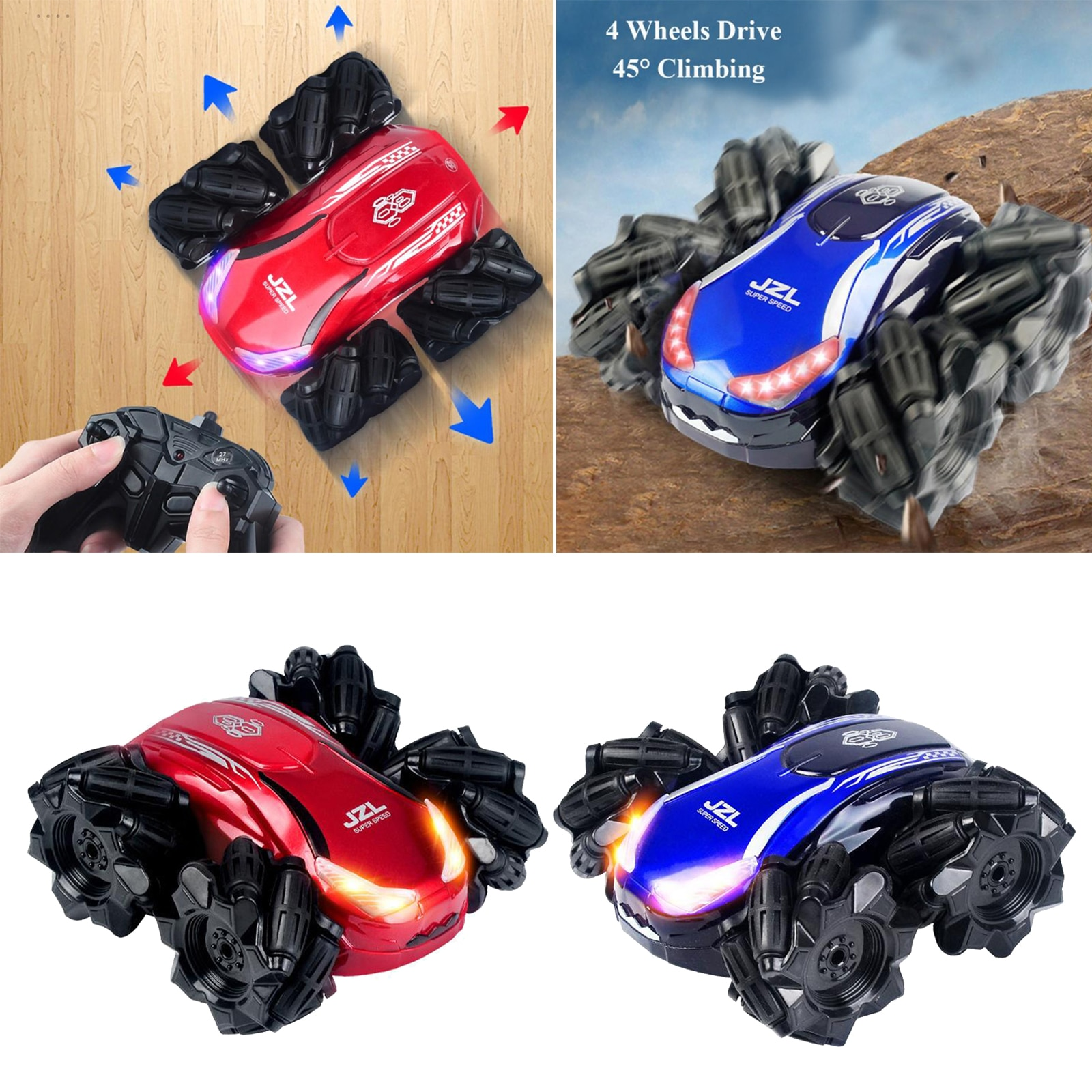 4WD Remote Control Car Kids Toys RC Car Stunt Car Double Sided Toy Truck enlarge