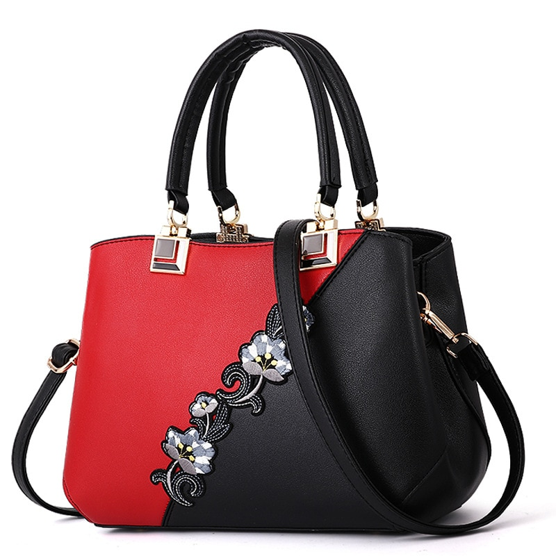 Fashion Embroidered Messenger Bags Women's Leather Handbags Bags for Women Sac a Main Ladies Hand Ba