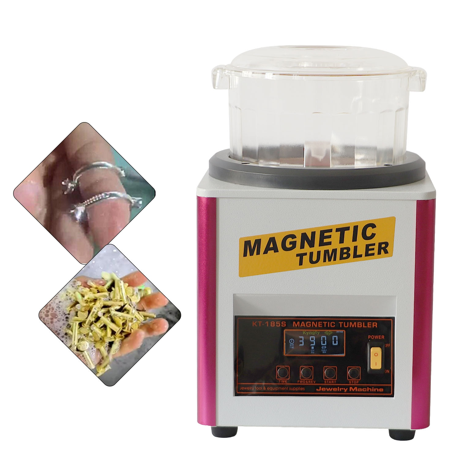 KT-185S Electric Magnetic Polishing Machine Magnetic Deburring Machine Tool Small Jewelry And Grinding Electromagnetic 220V/110V