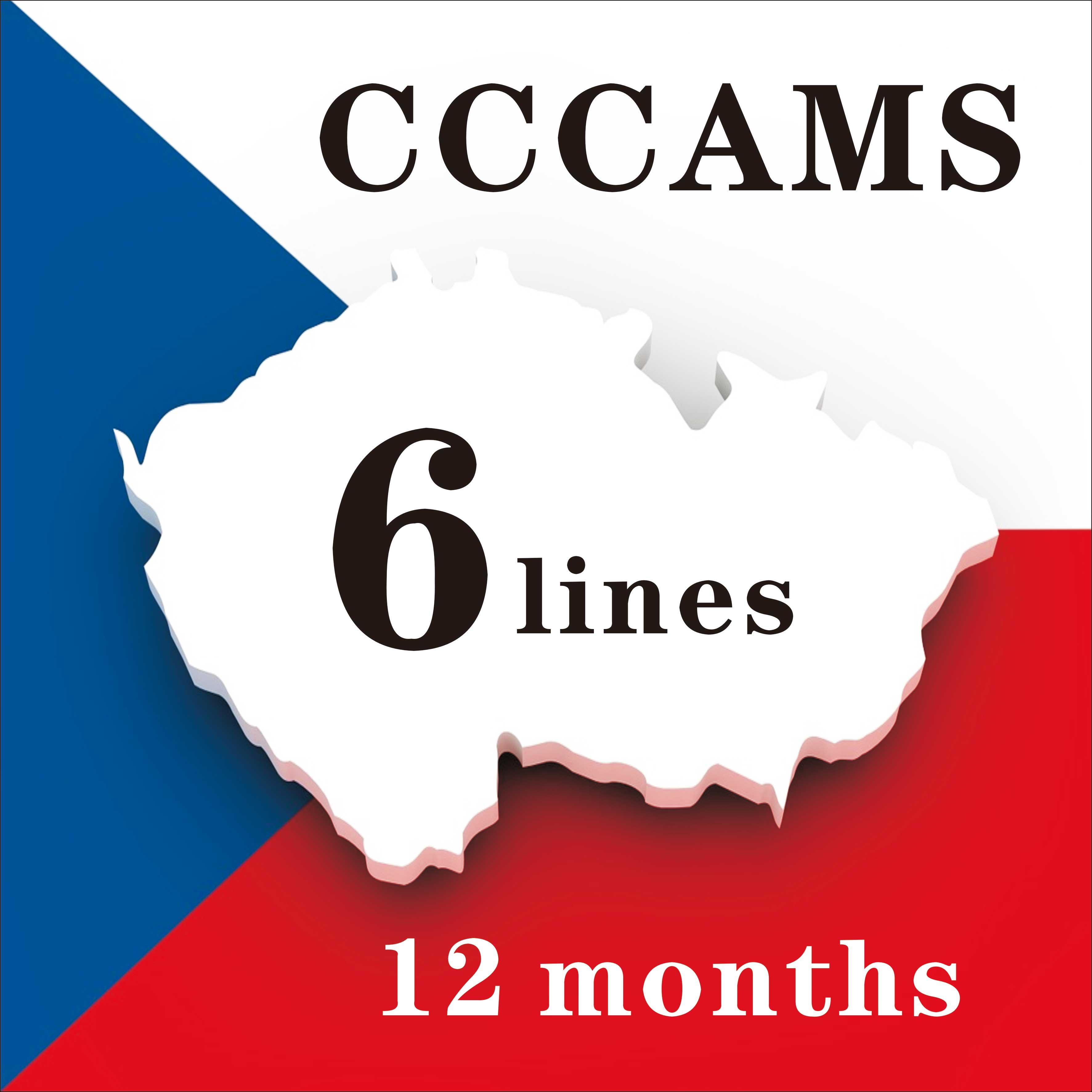 Especial para la República Checa Europa HD 1 año Cccam España Portugal Polonia receptor de televisión por satélite 6 líneas para DVB-S2 caja V8