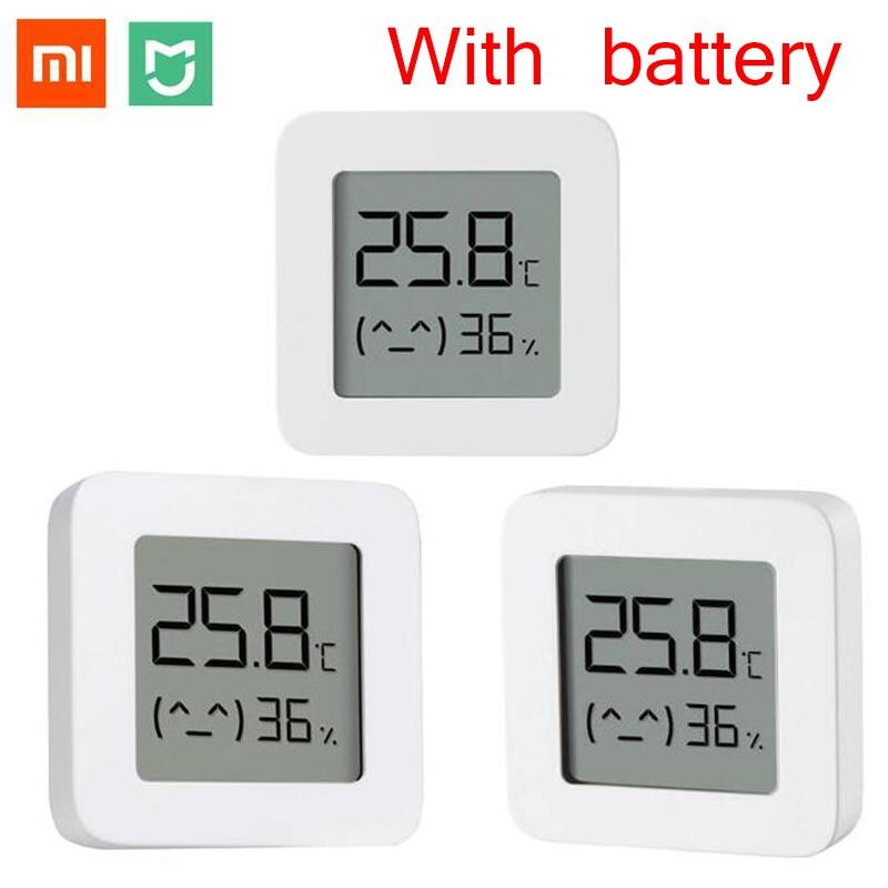 XIAOMI Bluetooth Digital Thermometer 2 LCD Screen Digital Moisture Meter Wireless Smart Temperature Humidity Sensor with battery