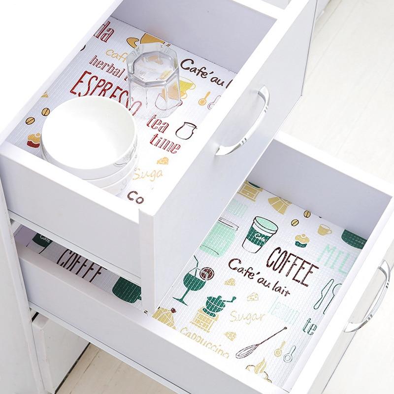 1 rouleau cuisine autocollant outils Table tiroirs armoire étagère revêtements Flamingo placard napperon étanche à lhuile chaussures armoire tapis