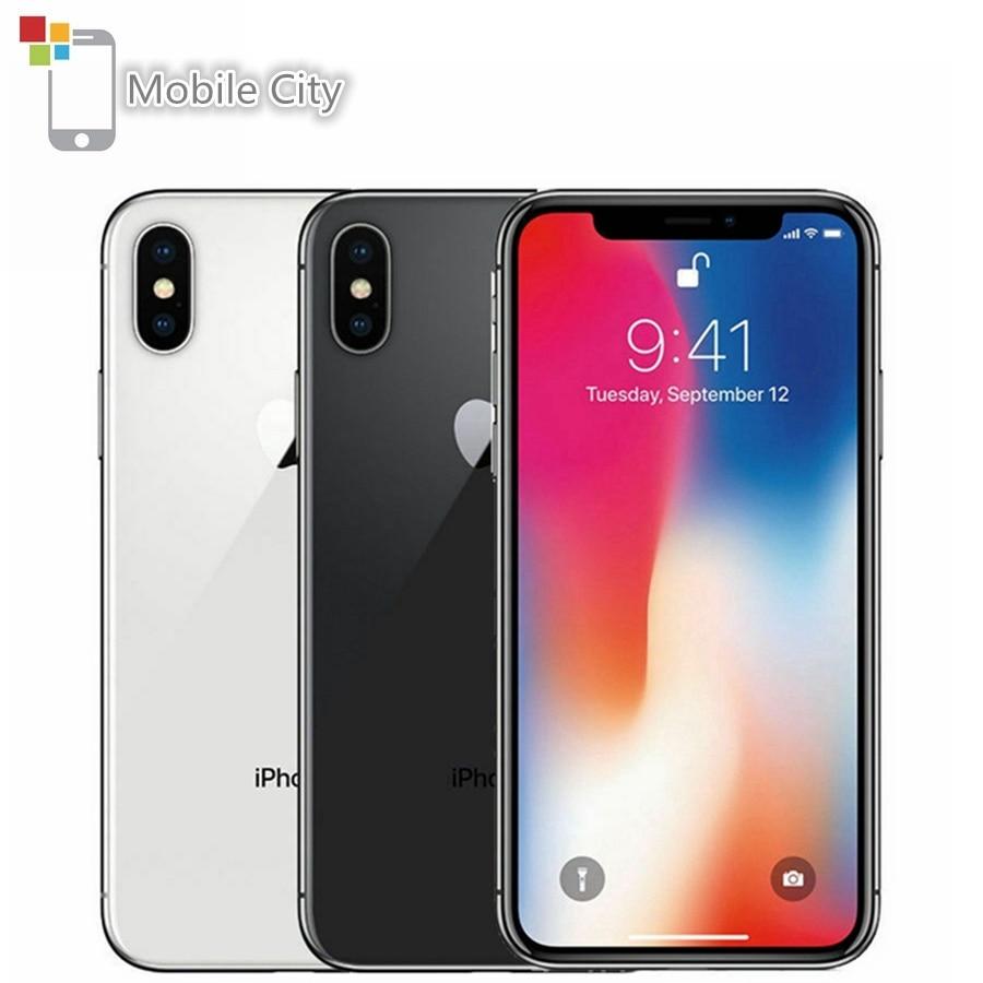 Apple iPhone X Face ID 4G LTE débloqué téléphones mobiles 64 GB/256 GB ROM 3GB RAM Hexa Core 5.8