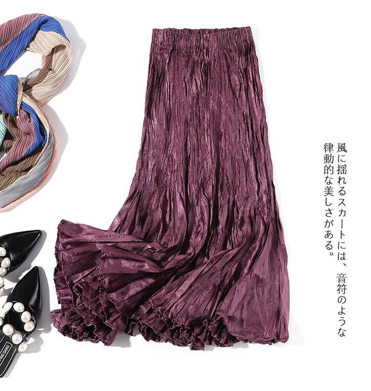 Envío Gratis Miyake falda de moda plegable desordenada plait yardas grandes dos desgaste en STOCK