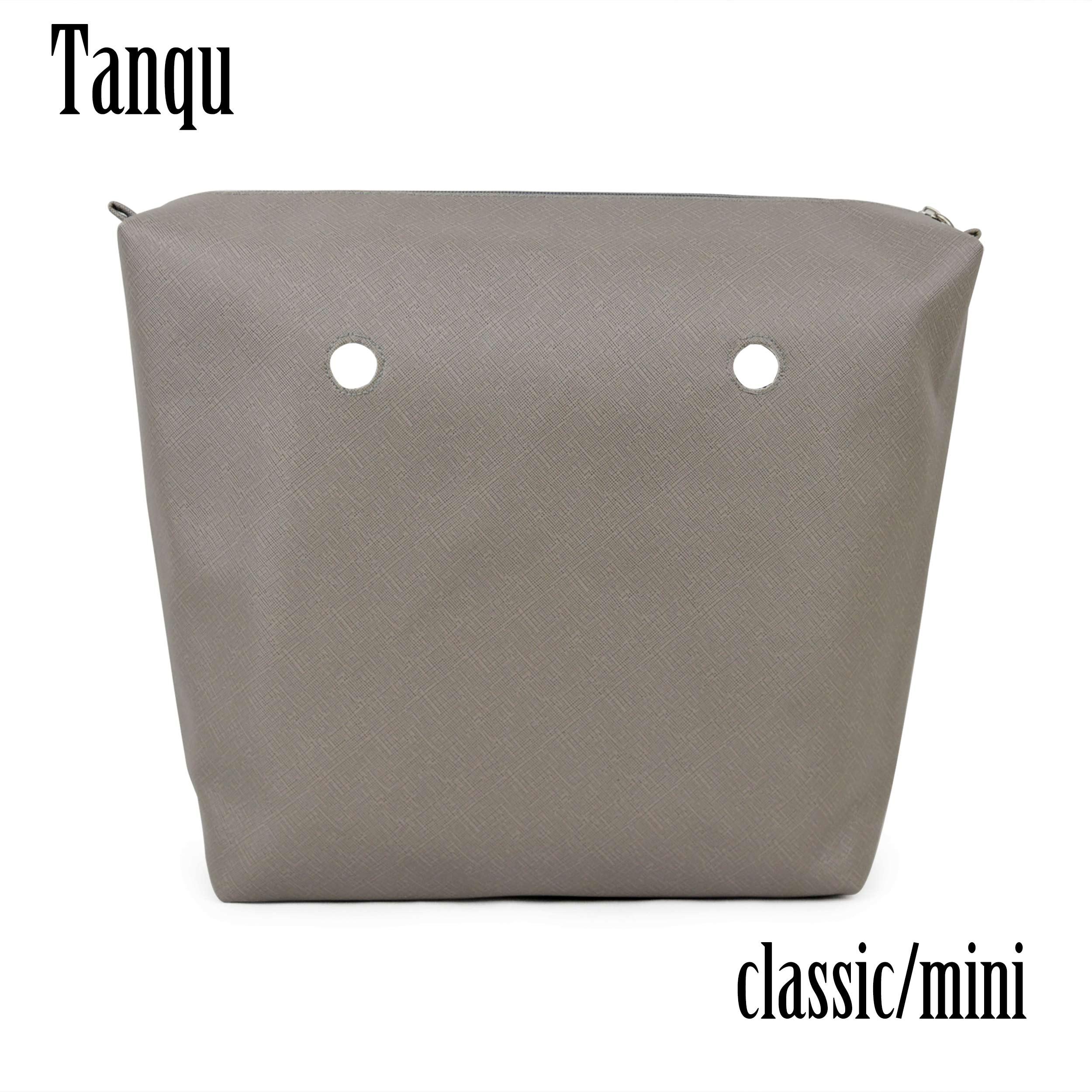 TANQU-بطانة داخلية من جلد البولي يوريثان ، جيب بسحاب مقاوم للماء لـ Obag ، بطانة صغيرة كلاسيكية ، ملحق للحقيبة