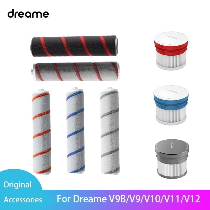 Фото - Оригинальные аксессуары для Xiaomi Youpin Dreame V9/V9B/V10/V11/V12, ручной беспроводной пылесос, роликовая щетка, HEPA фильтр пылесос xiaomi dreame v12 серый