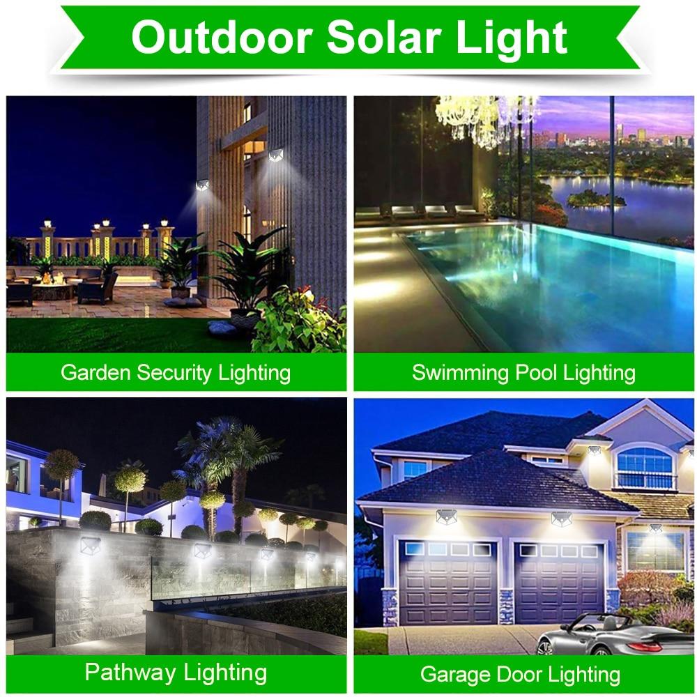 180 100 LED Solar Light Outdoor Solar Lamp with Motion Sensor Solar LED Light Waterproof Sunlight Powered for Garden Decoration