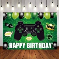 video game party backdrop welcome sign happy birthday photography background photo studio decorations supplies