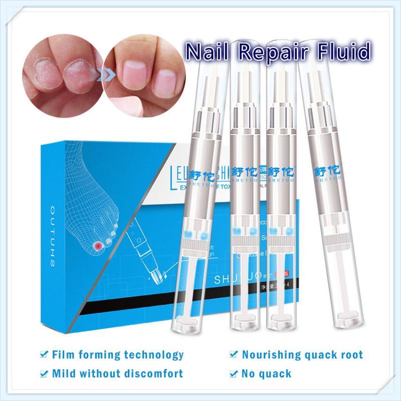 4 Uds biotina esencia Reparación de uñas líquido brillante uña lápiz hongos tratamiento Anti hongo reparación biológica de cuidado de uñas Anti-infectar
