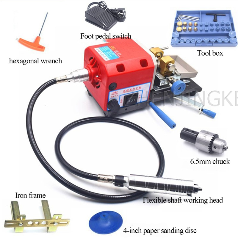Rosary Hole Puncher  Multifunction High Power Stepless Speed Regulation Rosary Pearl Driller Efficient Electric Drilling Tool enlarge