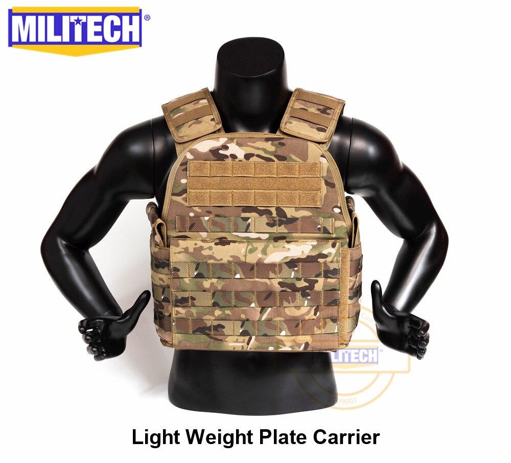 MILITECH chaleco ligero militar asalto táctico placa portador policía Overt Wear Body Armor Plate Carrier