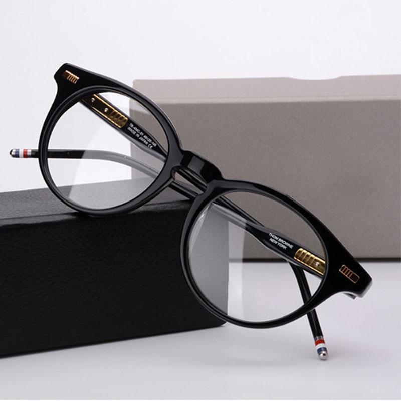 Thom-نظارات دائرية عتيقة للرجال والنساء ، تصميم علامة تجارية ، ريترو ، دائري ، قصر النظر ، وصفة طبية ، إطار TB404