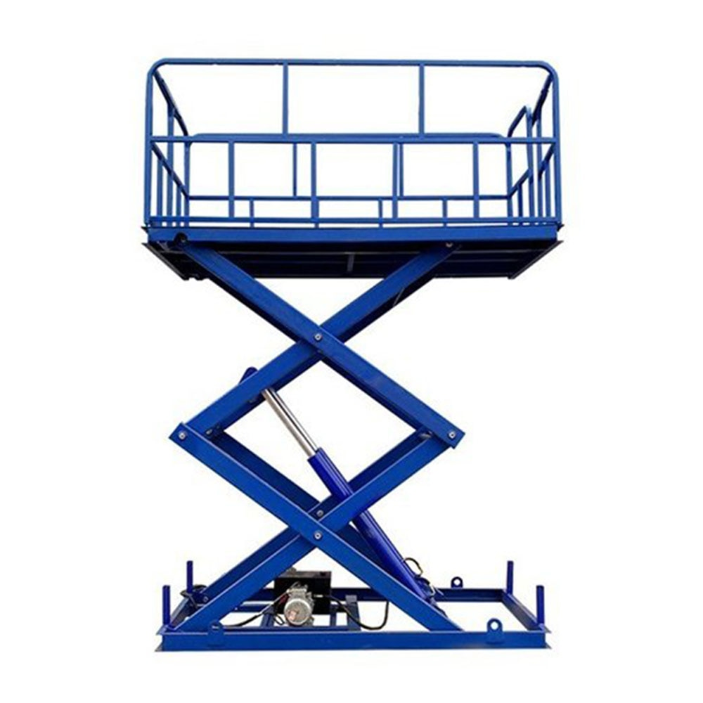 Qiyun CE Approved High Capacity Customized Height Electric AC Power Remote Control Hydraulic Fixed Scissor Cargo Lift Platform