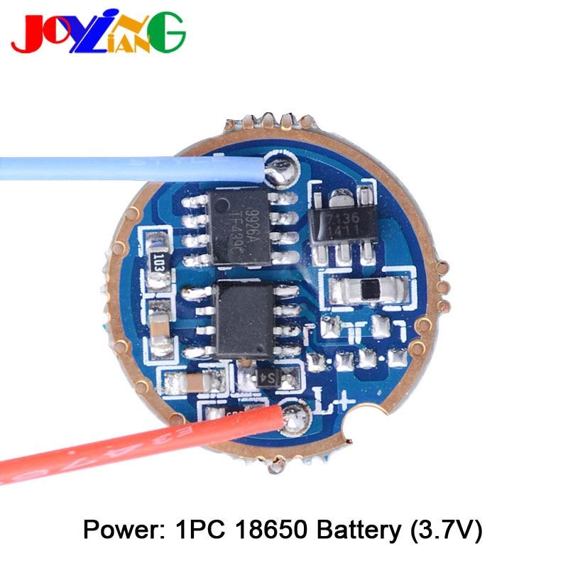 Placa de controlador de corriente constante JYL3903 2.5A 7135/ 7136 QX7136 para linterna LED T6/U2/L2 de 22MM de diámetro