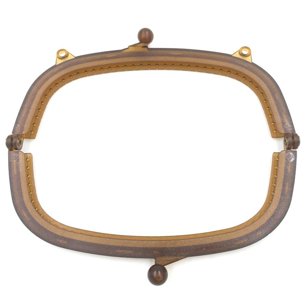 10PCS Semicircle Plastic Purse Frames 21cm Kiss Clasps Handbag Handles Buckles DIY Crafts Hardware Accessories Replace Supplies