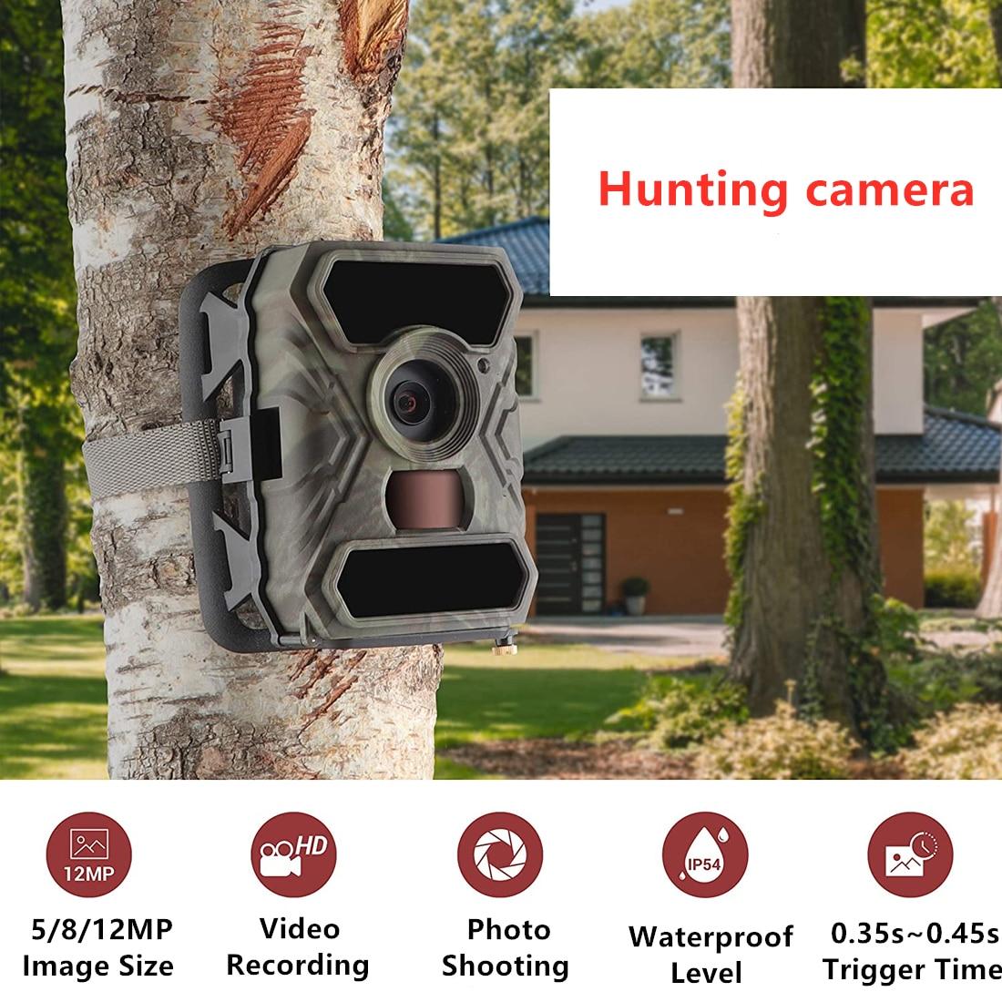 Cámara de caza S880G Trail Hunting Cámara 12MP 1080P Wild cámara de vigilancia IR visión nocturna cámaras de Scouting Wildlife