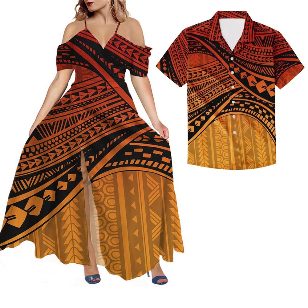 HYCOOL ساموا خمر مقنعين فستان ماكسي المرأة مثير أكمام الجانب الشق سبليت Bodycon فستان طويل فام عادية فتح الجانب Vestidos