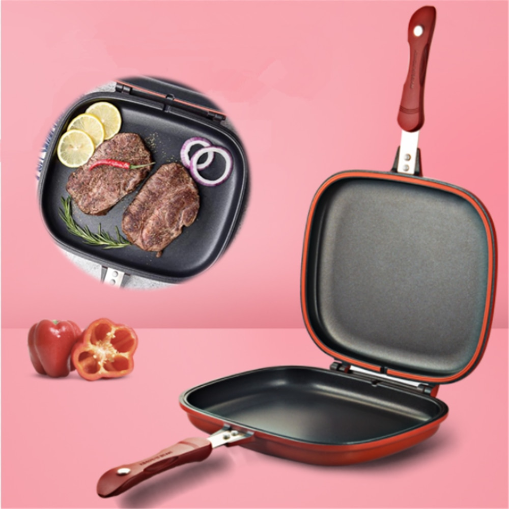 Pot Double Pan Doubel Sided Grill Pan Frying Pan Double Pan Expensive Skillet Grill Pan Baking Tray Wok Pan Frypan Double Faced