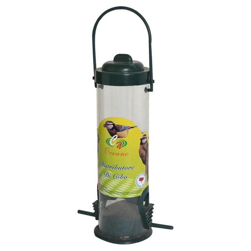 Alimentador de pájaros de lado recto, no tóxico, alimentadores de pelar con mango de 7,5 x 29cm