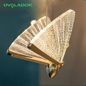 Butterfly Pendant lamp New Nordic Led Pendant Light Hanging Lamp Dining Room Living Room Bedroom Bedside luxury chandelier 5W