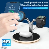 3 in 1 magnetic wireless phone charger for magsafe iphone 12 pro chargers 15w fast charging dock for apple watch airpods pro