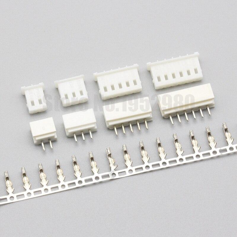 20 conjunto 5264 5267 conector 2.5mm passo 2p 3p 4p 5p 6p 7p 8 9p 10p 11p 12p fêmea habitação + vertical pcb macho soquete + terminais