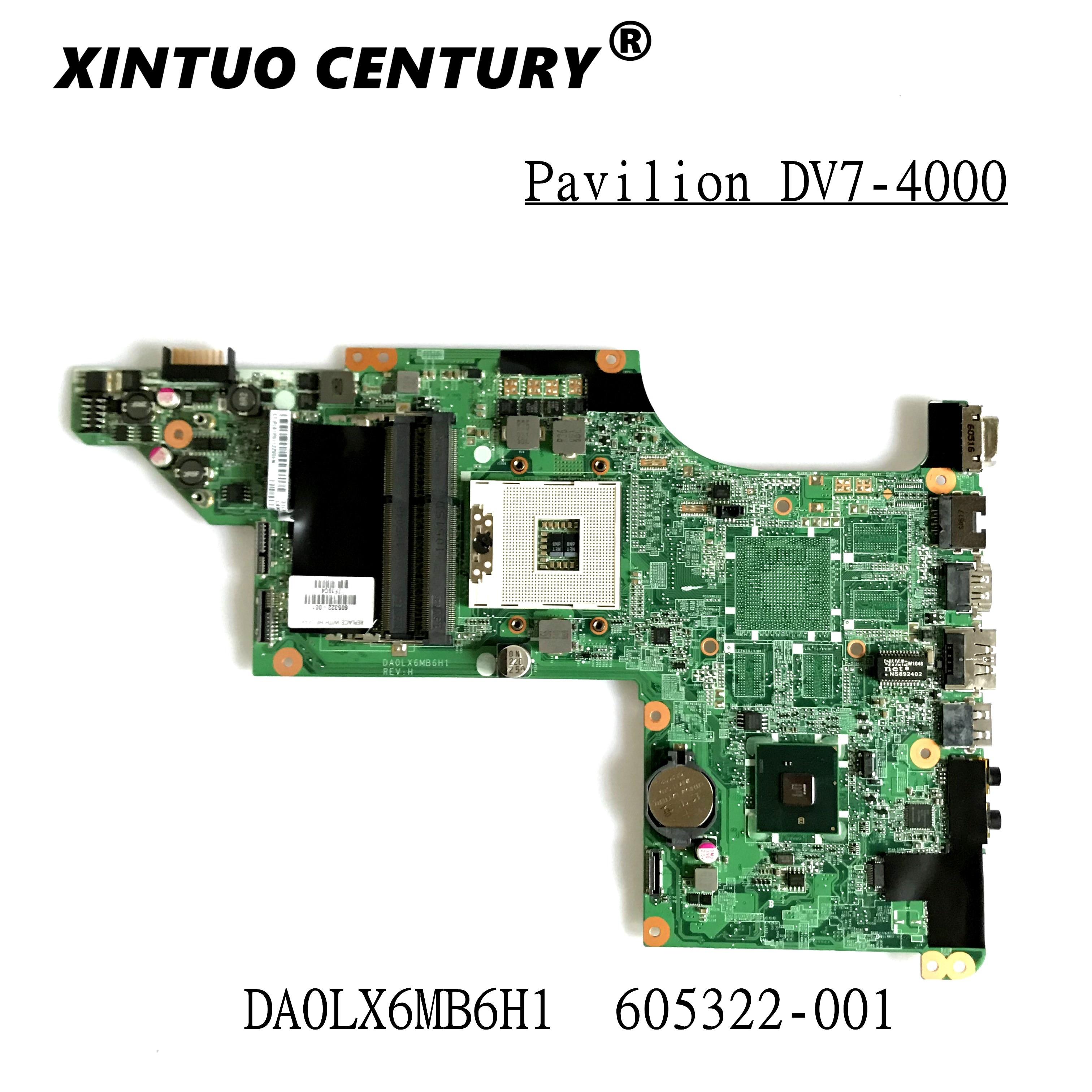 605322-001 para HP PAVILION DV7T-4100 NOTEBOOK HP ordenador portátil placa base DV7-4000...