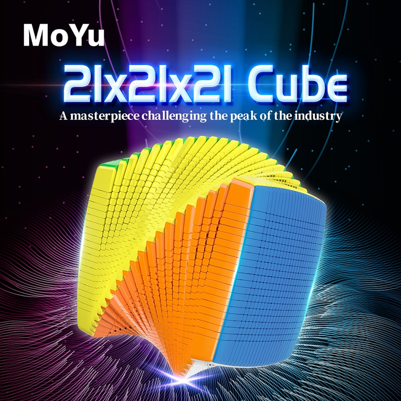 Moyu cube 21x21x21 ماجيك كيوب المهنية cubo magico عالية الصعوبة مكعب علبة هدايا فاخرة مجموعة لمحبي مكعب المفضلة