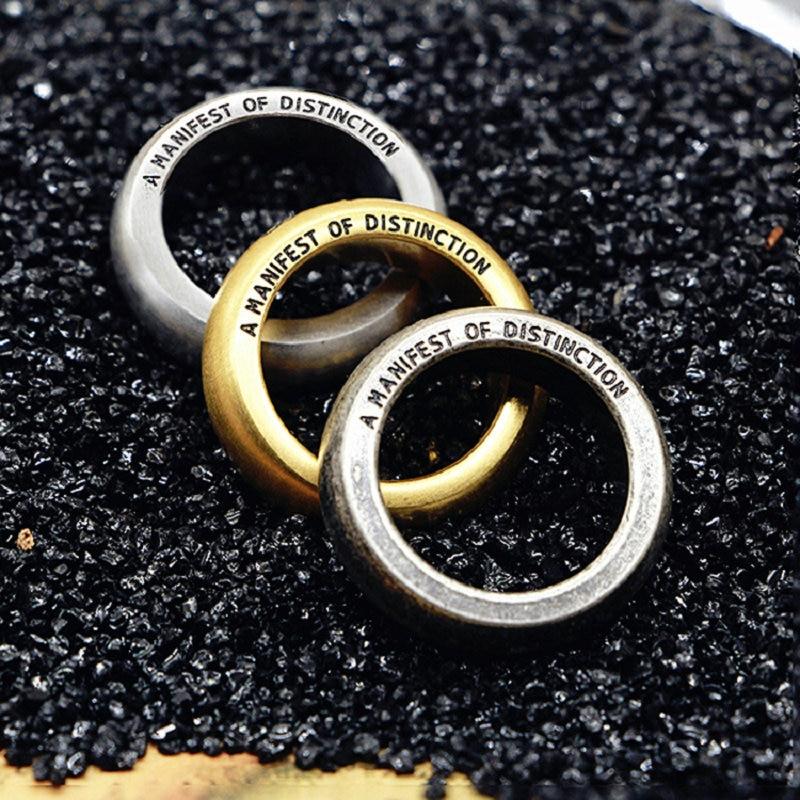 Antiga vida de aço titânio dos amantes do anel de prata da jóia do amante