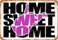 SRongmao     signe en metal 8x12  violet  pour la maison