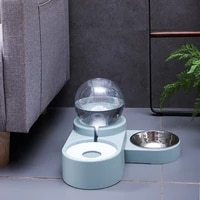 cat accessories pet drinker dog cat bowl double bowl dog food bowl non wet mouth bubble automatic drinking gatos accesorios