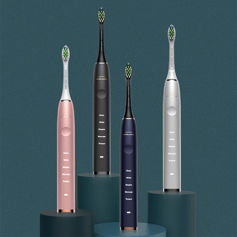 Electric Toothbrush Ultrasonic Whitening Brightening Electric Toothbrush Inductive Wireless Charging IPX7 Full Body Waterproof