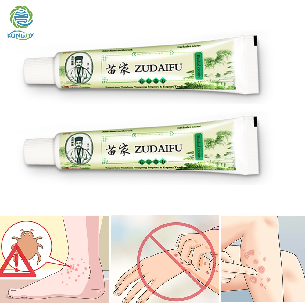 2 uds Zudaifu piel crema para la psoriasis Dermatitis Eczematoid chino Eczema ungüento tratamiento crema para la psoriasis de cuidado de la piel de yeso