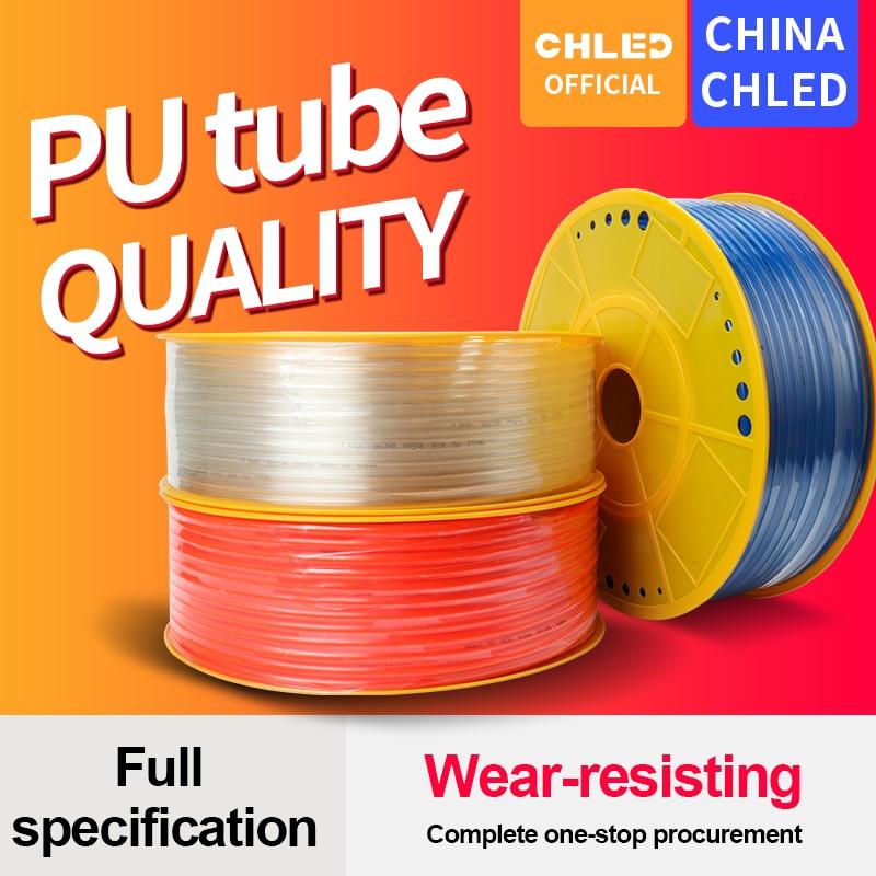 Tubo de Pu tubo neumático tubo de pu 4*2,5mm 6*4mm 8*5mm 10*6,5mm 12*8mm 16*12mm compresor de tubería de aire 10 metros