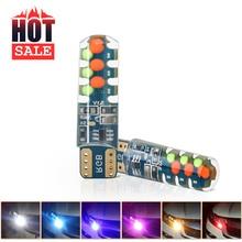 2PCS T10 194 168 W5W COB 18SMD RGB Freigabe Led Keil Lampe Multi Farbe Silica Silizium Lampen Strobe Flash auto anzeige Lichter